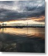 The Harbour Lights Metal Print