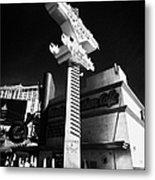 the harley davidson cafe on Las Vegas boulevard Nevada USA Metal Print