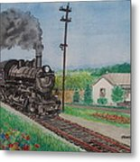 The Hillsboro Local Passing My Birthplace At Sardinia Metal Print