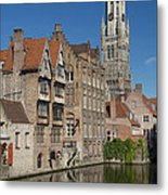 The Historic Center Of Bruges Metal Print