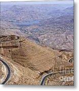 The King's Highway At Wadi Mujib Jordan Metal Print by Robert Preston