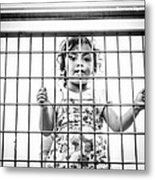 The Locked Little Girl Metal Print