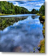 The Majestic Bald Mountain Pond Metal Print