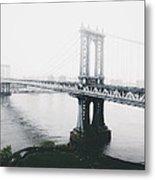 The Manhattan Bridge Metal Print
