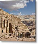 The Monastery El Deir Or Al Deir Metal Print