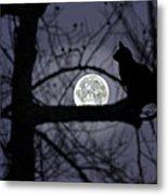 The Moon Watcher Metal Print