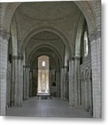 The Nave - Cloister Fontevraud Metal Print