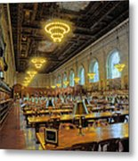The New York Public Library Metal Print