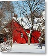 The Old Red House Metal Print