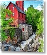 The Old Red Mill Jericho Vermont Metal Print