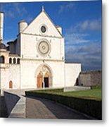 The Papal Basilica Of St. Francis Of Assisi  Metal Print