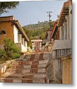 The Path To The Temple Metal Print