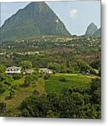 The Pitons In Saint Lucia Metal Print
