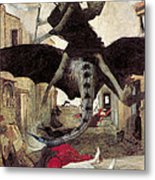 The Plague Metal Print by Arnold Bocklin
