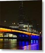 The Shard And London Bridge Metal Print