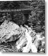 The Sinks Smoky Mountains Bw Metal Print