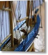 The Small Ship Metal Print by Aqil Jannaty