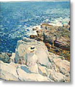 The South Ledges Appledore Metal Print