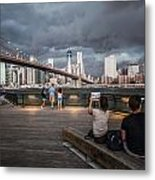 The Storm Over Manhattan Metal Print