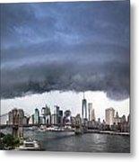 The Storm Over Manhattan Downtown Metal Print