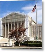 The Supreme Court Facade Metal Print