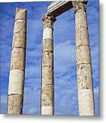 The Temple Of Hercules In The Citadel Amman Jordan Metal Print