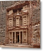 the treasury Nabataean ancient town Petra Metal Print
