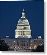 The United States Capitol Building Metal Print