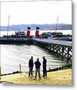 The Waverley Sails Down The River Clyde Metal Print