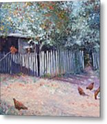 The White Picket Fence Metal Print