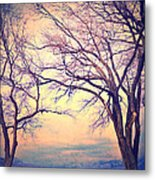 The Yesterday Bench Metal Print