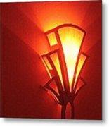 Theater Homage Art Deco Lighting Fixture Fox Tucson Tucson Arizona 2006 Grand Reopening Metal Print