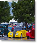 Three In A Row Metal Print