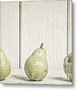 Three Pear Metal Print by Edward Fielding