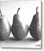 Three Pears Metal Print