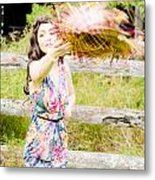 Throw Your Hat Into The Ring Metal Print