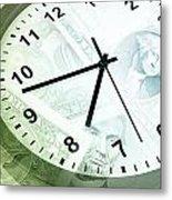 Time Is Money Metal Print