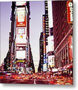 Times Square, Nyc, New York City, New Metal Print