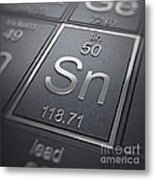 Tin Chemical Element Metal Print