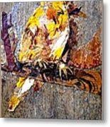 Tired Bird Metal Print