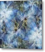 Tissue Paper Blues Metal Print