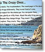 To The Crazy Ones Metal Print