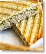 Toasted Tuna Sandwiches For American Breakfast Metal Print