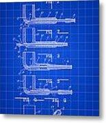 Tobacco Pipe Patent 1944 - Blue Metal Print