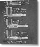 Tobacco Pipe Patent Metal Print