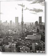 Tokyo Tower Square Metal Print