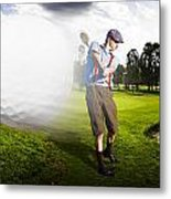 Top Flight Golf Metal Print