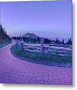 Top Of Mount Mitchell After Sunset Metal Print