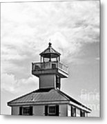 Top Of The New Canal Lighthouse - Bw Metal Print