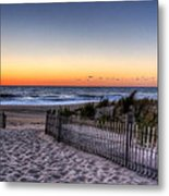 Tower Beach Sunrise Metal Print by David Dufresne